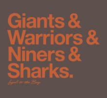 Loyal to the Bay - San Francisco (Orange Print) Kids Clothes