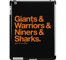 Loyal to the Bay - San Francisco (Orange Print) iPad Case/Skin