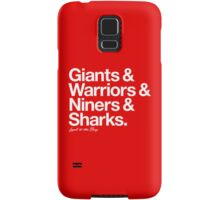 Loyal to the Bay - San Francisco (White Print) Samsung Galaxy Case/Skin