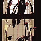 hotel plants against stained glass by Nikolay Semyonov