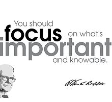 focus is important - warren buffet by Razvan Dragomirica