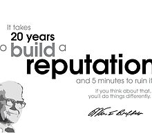 20 years reputation - warren buffet by Razvan Dragomirica