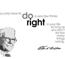 do right - warren buffet by Razvan Dragomirica