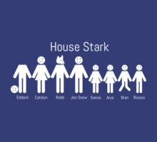 Game of Stick Figures - House Stark by Creighton Linza