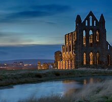 Whitby Abbey At Dusk by KathyMPhoto