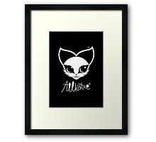 ALLKATZE * Space Cat - Weltraum-Katze - Chat d'Espace Framed Print