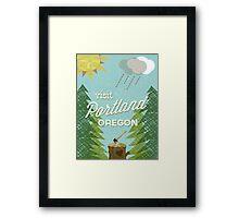 Visit Portland OR Framed Print