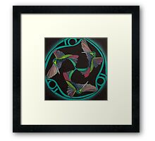 Hummingbird Triskele Framed Print