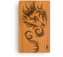 Wood Dragon Canvas Print
