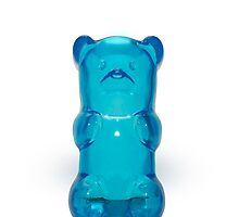 blue gummy bear by c-chenard