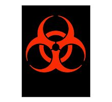Biohazard symbol; Biological hazard in red & black by TOM HILL - Designer