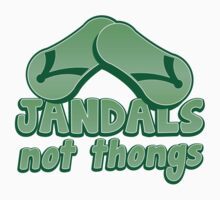 JANDALS not thongs with funny New Zealand  by jazzydevil