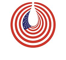 American FLAG; STARS & STRIPES; IN CIRCLE; USA by TOM HILL - Designer