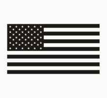 American Flag; STARS & STRIPES; IN BLACK; USA by TOM HILL - Designer