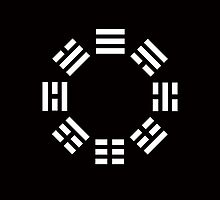 I Ching symbol; Book of Changes; WHITE by TOM HILL - Designer