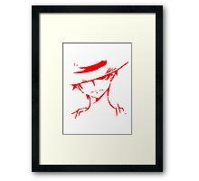 Monkey D Luffy Soft Art Framed Print