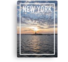 NEW YORK FRAME Canvas Print