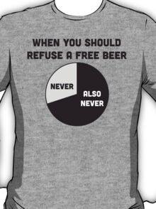 When You Should Refuse Free Beer Graph T-Shirt