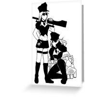 PILTOVER IN BLACK T-SHIRT [Design for black tshirt] Greeting Card
