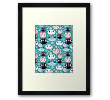 pattern of love funny cats Framed Print