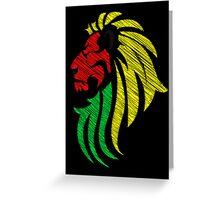 Lion Reggae Colors Cool Flag Vector Art  Greeting Card