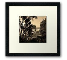 ruby beach, wa, usa old school (square) Framed Print