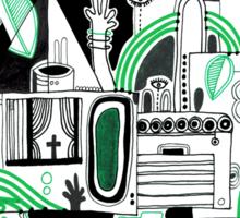 Green Jello Mountains Sticker
