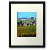 Beautiful traditional farmland scenery II | landscape photography Framed Print