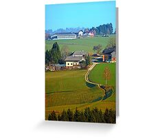 Beautiful traditional farmland scenery II | landscape photography Greeting Card