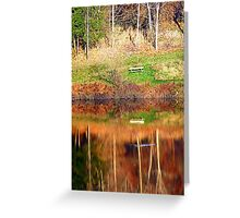 Water reflections on the river | waterscape photography Greeting Card