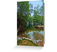 Romantic moments at the lake | waterscape photography Greeting Card