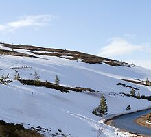 Cairngorm Mountain range covered in snow by Keith Larby