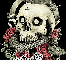 Skull and Snake by DTBClothing