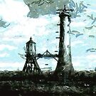 The Building of Bell Rock Lighthouse 1809 by Dennis Melling