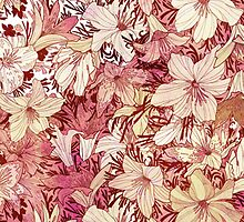 Vintage Lilium Flower Pattern by sale