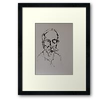 Ink Drawing of Michael - Head Study Framed Print