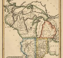 Antique Map of the Midwest US from c1817 by bluemonocle