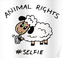 Selfie for Animal Rights Poster
