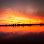 Sunset over Lake Burley Grillfin  Canberra Australia  by Kym Bradley