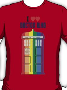 I Heart Doctor Who (LGBT TARDIS) T-Shirt