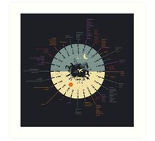World Clock Art Print