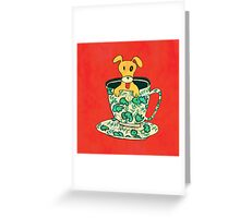 Puppy in a teacup Greeting Card