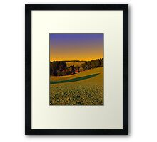 Beautiful sundown in the countryside | landscape photography Framed Print