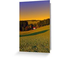 Beautiful sundown in the countryside | landscape photography Greeting Card
