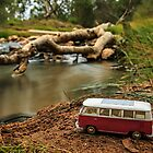 Little Red Combi ~ Riverside  by Pene Stevens
