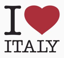 I ♥ ITALY Kids Clothes