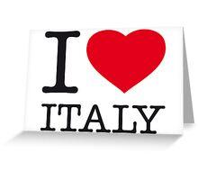I ♥ ITALY Greeting Card