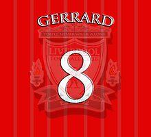 Liverpool FC Steven Gerrard Fan Art by Paul Madden