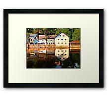 River reflections at the mill | waterscape photography Framed Print
