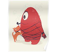 Cyclopes Monster Blob & Orange Dog Poster